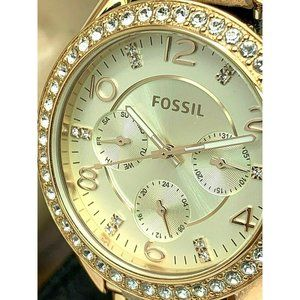 Fossil Women's Watch Riley ES3466 Rose Gold Tone